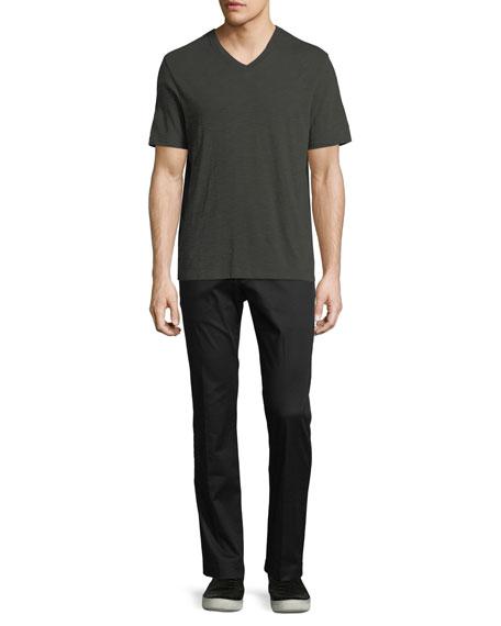 Slub Pima Cotton V-Neck T-Shirt