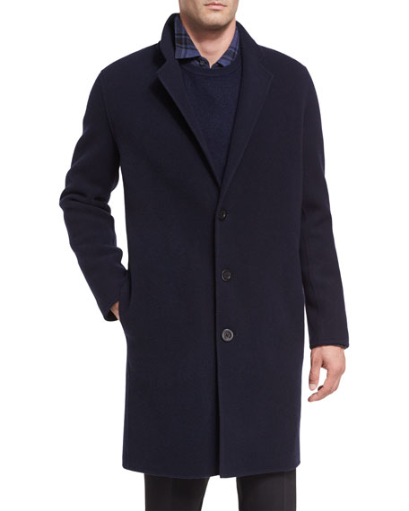 Notch-Lapel Single-Breasted Coat