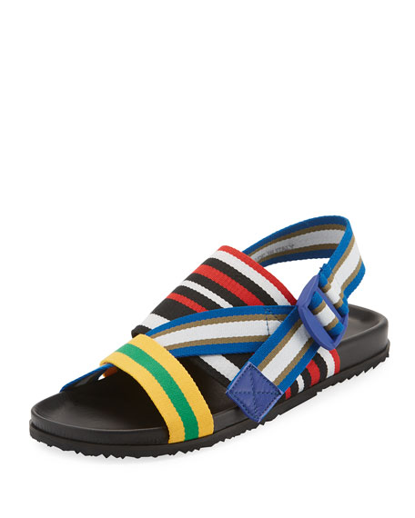 Maison Margiela Striped Web-Strap Sandal
