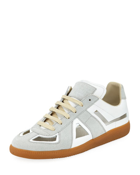Maison Margiela Men's Cutout Replica Low-Top Sneakers