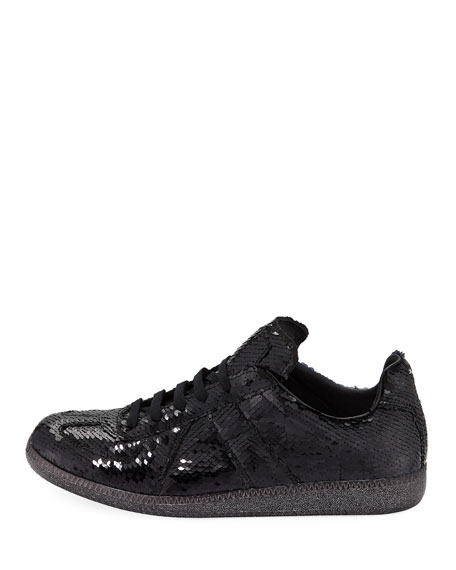 Men's Sequined Replica Low-Top Sneakers