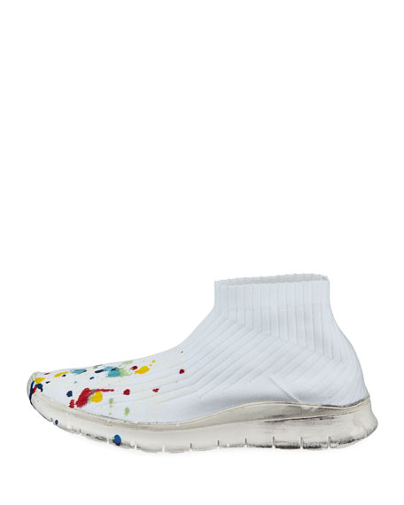 Men's Paint-Splatter Sock Sneakers