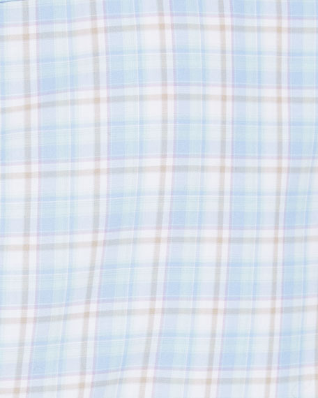 Crown Finish Plaid Sport Shirt