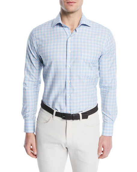 Peter Millar Crown Finish Plaid Sport Shirt