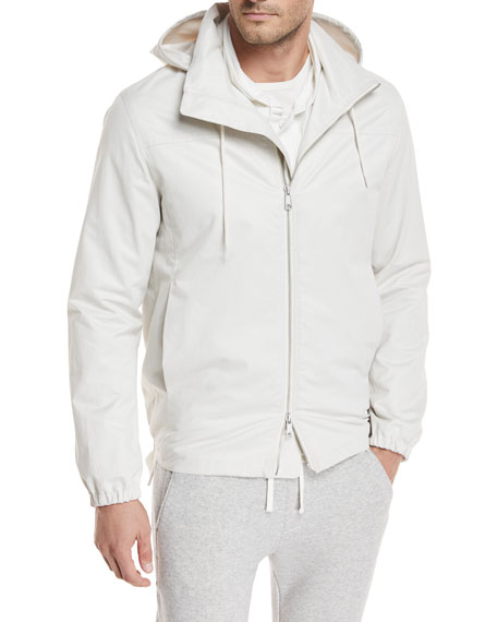 Hooded Zip-Front Jacket