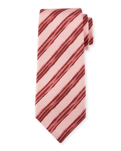 Painted Striped Silk Tie