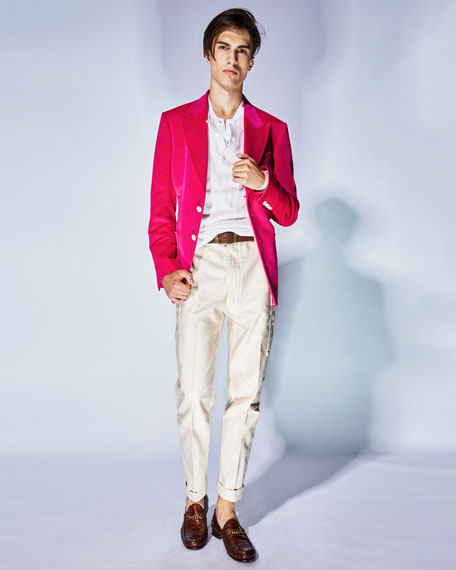 Shelton Bright Velvet Two-Button Jacket