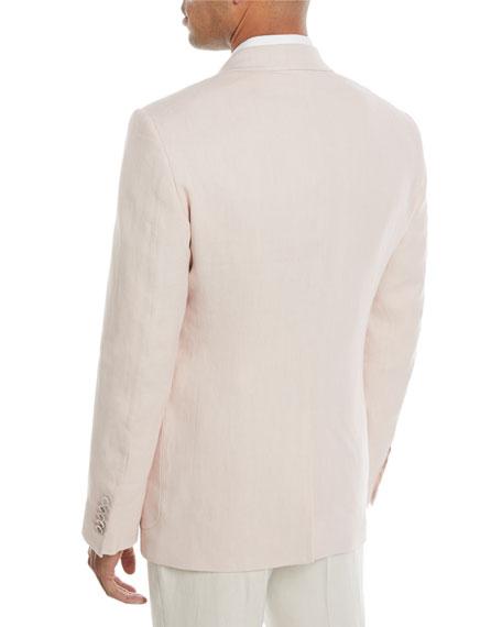 Shelton Peak Patch Two-Button Linen Blazer