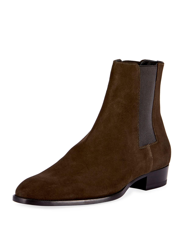 c330e66b6176 Saint Laurent Wyatt 30 Suede Chelsea Boot