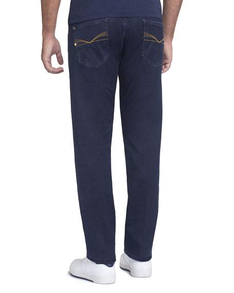 Straight-Leg Denim Jeans