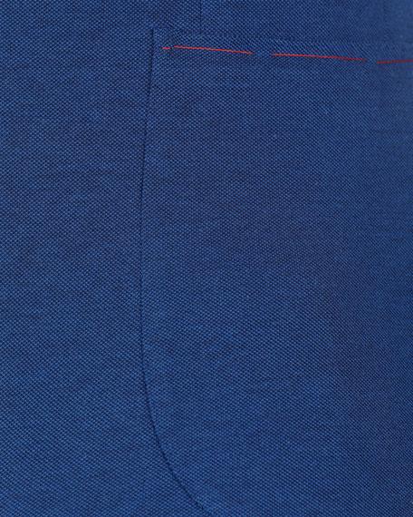 Solid Cotton Pique Blazer