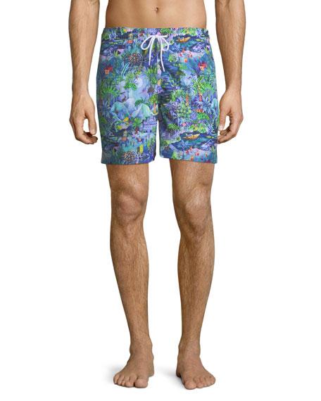 Derek Rose Maui Print Classic-Fit Swim Trunks