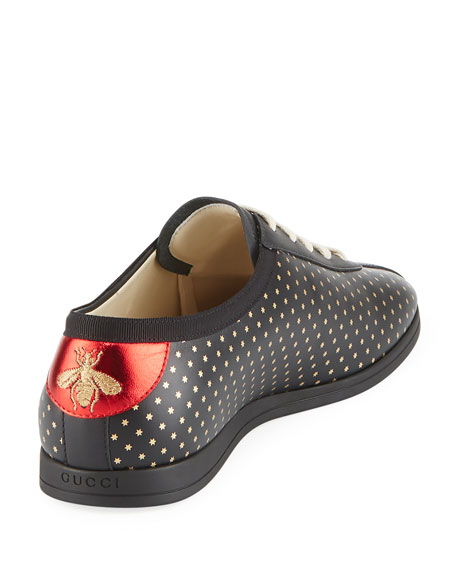 GUCCY Logo Leather Low-Top Sneaker