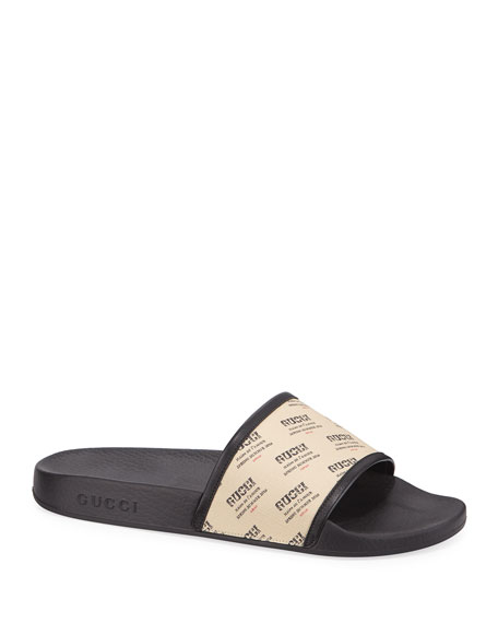 Pursuit Invite-Print Slide Sandals