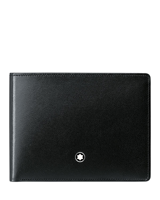 10a7211845dfa Montblanc Meisterstück Slim Leather Bifold Wallet, Black | Neiman Marcus