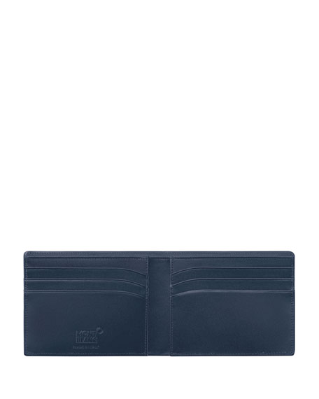 Image 2 of 2: Montblanc Meisterstuck Leather Bifold Wallet, Navy