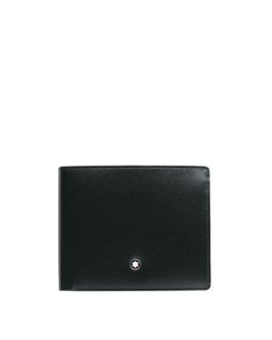 d06210489214 Montblanc Meisterstuck Leather Bifold Wallet, Black