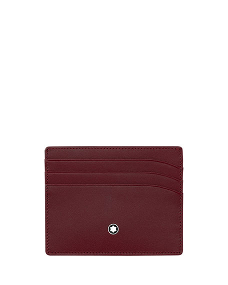 Leather Card Case, Burgundy