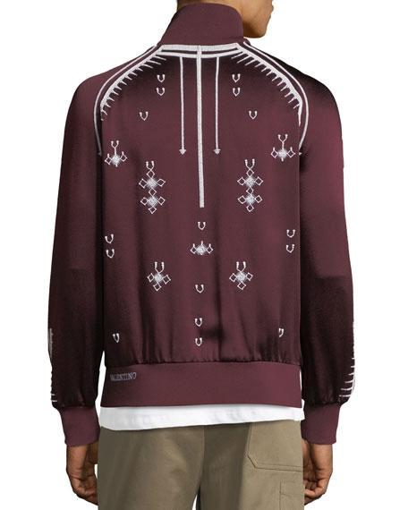 Beaded Zip-Front Track Jacket