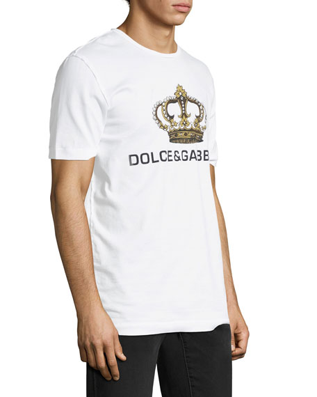 Logo Crown Cotton T-Shirt