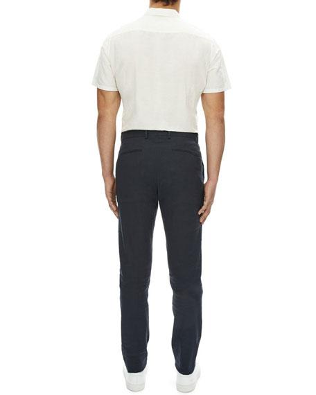 Theory Zaine Urban Stretch-Linen Straight-Leg Pants