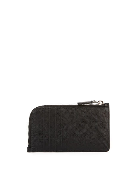 Image 3 of 3: Saffiano Leather Portfolio Card Case