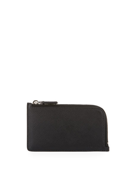 Image 1 of 3: Saffiano Leather Portfolio Card Case