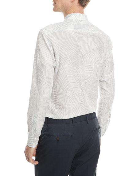 Ermenegildo Zegna Floral-Print Linen-Cotton Sport Shirt