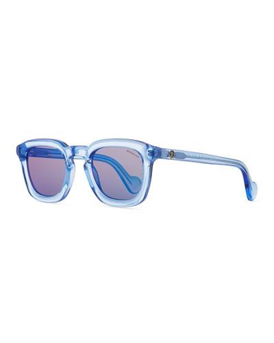 Square Translucent Plastic Universal Fit Sunglasses
