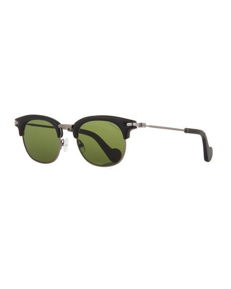 Moncler Half-Rim Universal Fit Sunglasses