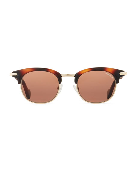 Half-Rim Universal Fit Sunglasses, Brown