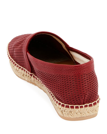 Men's Perforated Leather Espadrille