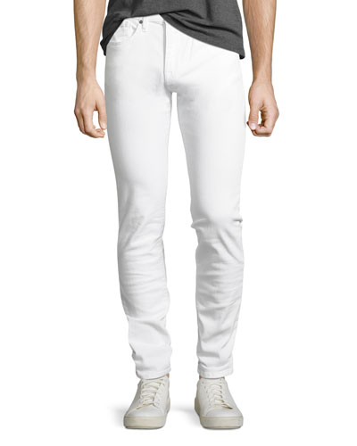 Men's Brixton Slim-Straight Jeans  White