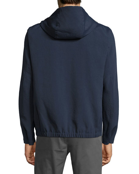 Forged Knit Zip-Front Hoodie