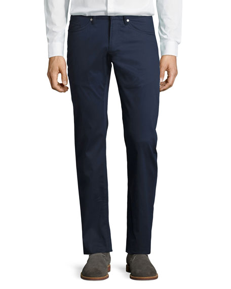 Peter Millar Perfect Poplin 5-Pocket Pants