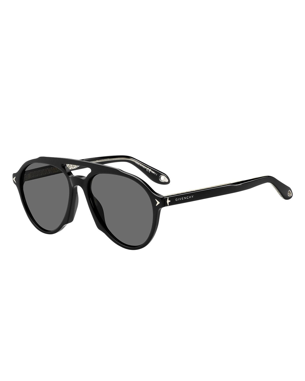 464e2371564e Givenchy Acetate Aviator Sunglasses   Neiman Marcus