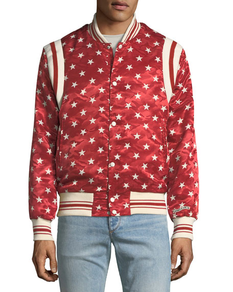 Ball Star Satin Bomber Jacket