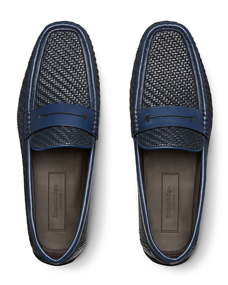 Highway Pelle Tessuta Penny Loafer