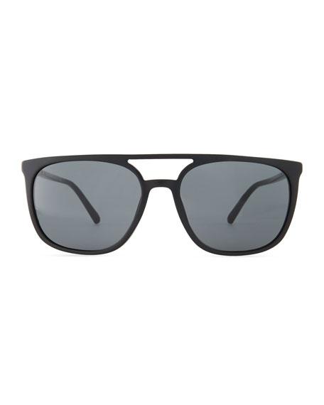Flat-Top Square Acetate Sunglasses