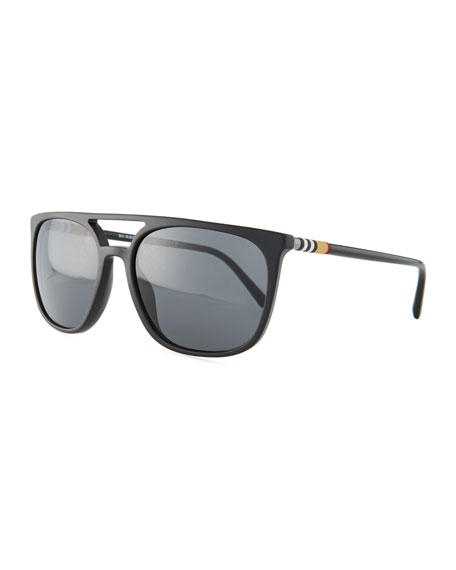 Burberry Flat-Top Square Acetate Sunglasses