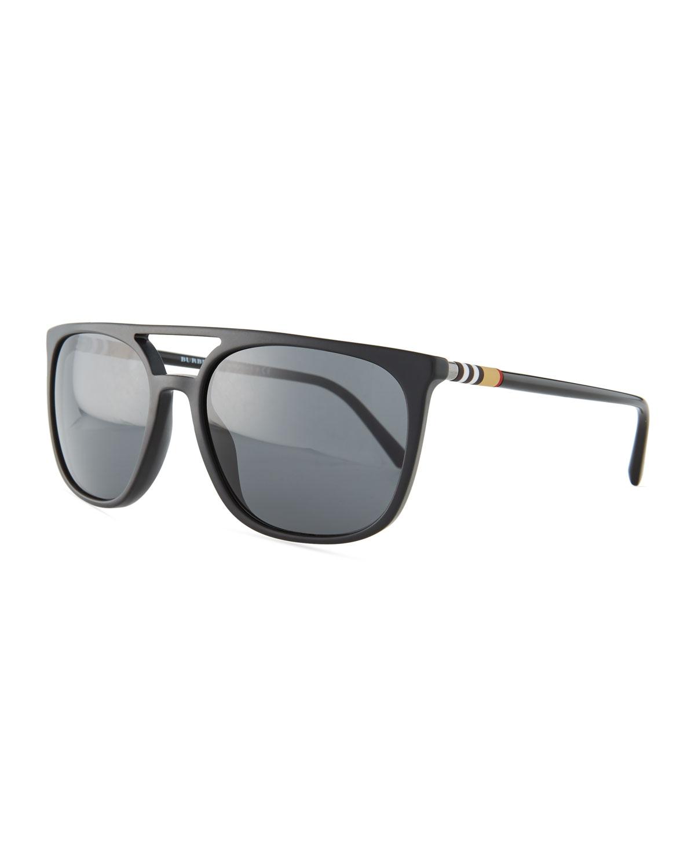 46680b085c Burberry Flat-Top Square Acetate Sunglasses