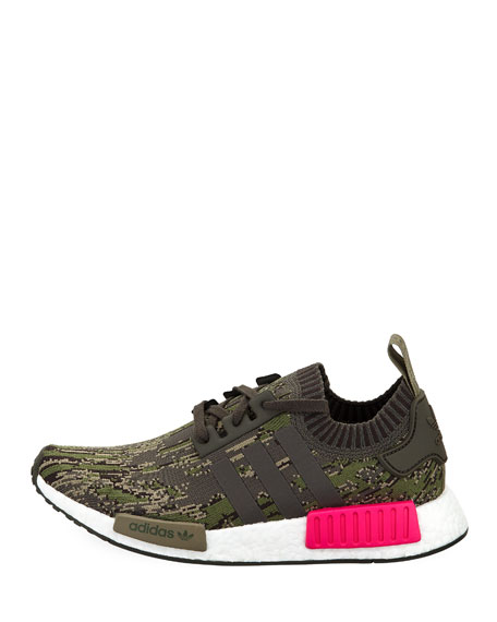Men's NMD_R1 Knit Trainer Sneakers, Green