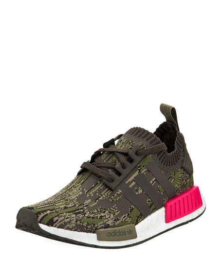 Adidas Men's NMD_R1 Knit Trainer Sneakers, Green