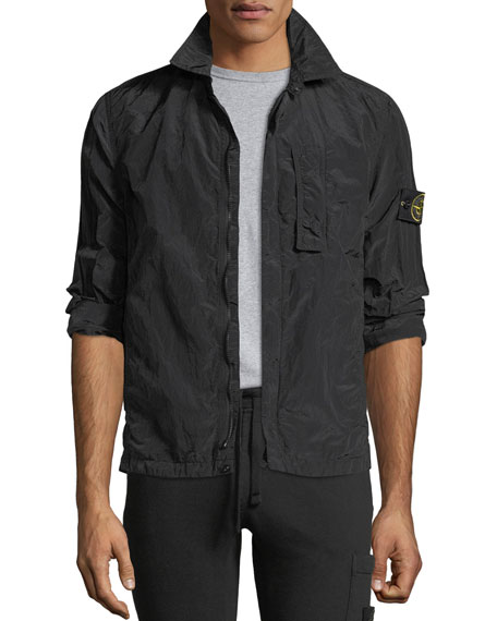 Zip-Front Overshirt Jacket