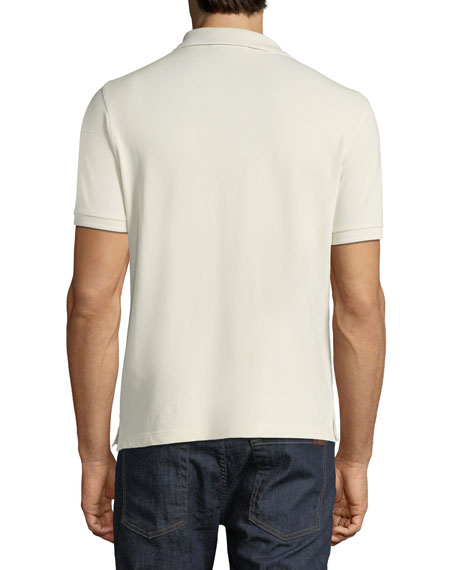 Pique-Knit Polo Shirt