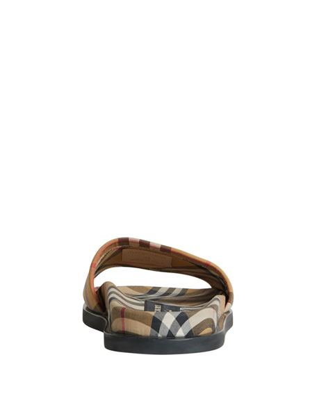 Ashmore Low-Top Rainbow Check Slide Sandal