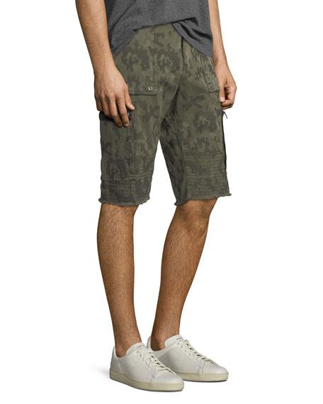 Touring Camouflage-Print Moto Shorts