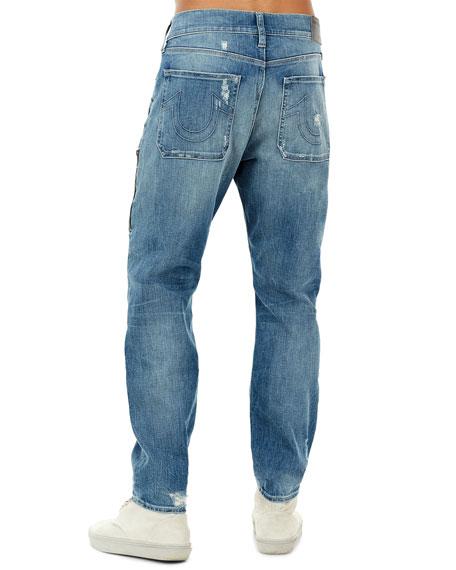 4554bd1768f True Religion Workwear Distressed-Denim Pants | Neiman Marcus