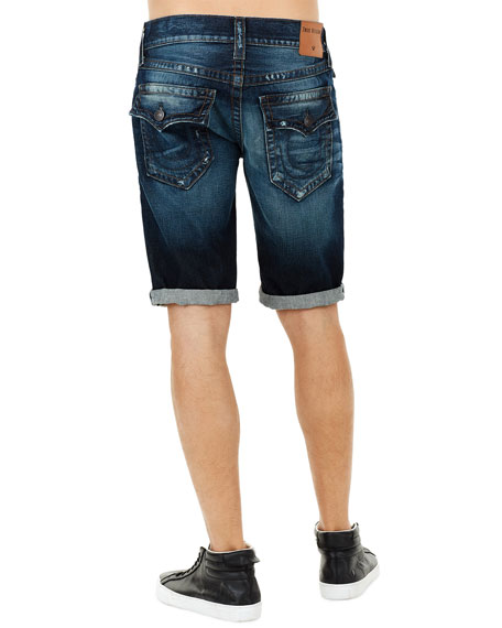 Ricky Flap-Pocket Rolled-Cuff Denim Shorts