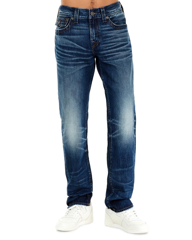 6cf85daf267 True Religion Geno Flap-Pocket Straight-Leg Jeans
